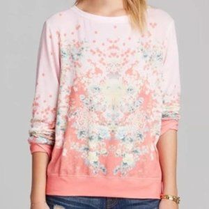 Wildfox Floral Geisha Pullover Small